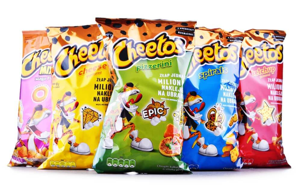 Packets of Cheetos