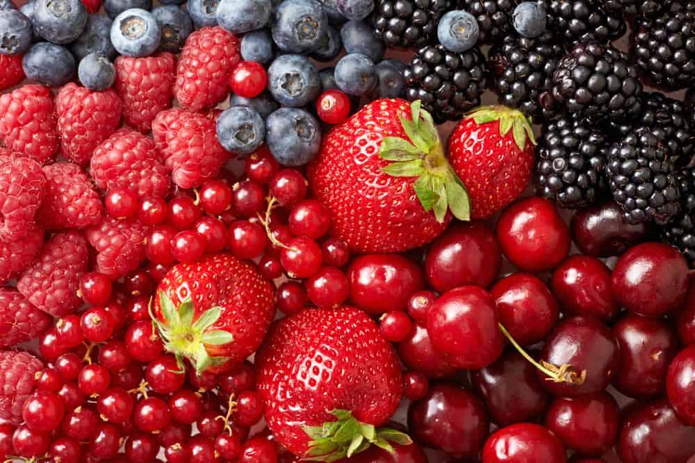 Various of berries